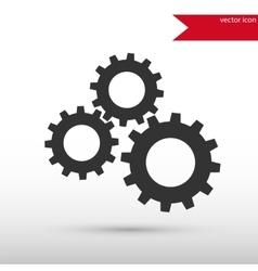 Black gears icon design vector