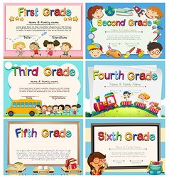 Certificates for children in primary school vector