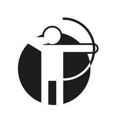 circle shape archery sport figure symbol graphic vector image