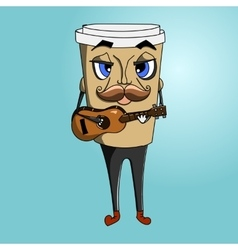 Coffee cup to go charakter vector
