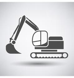 Construction bulldozer icon vector image