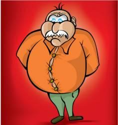 fat man vector image vector image