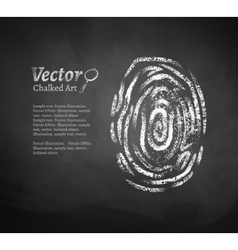 Fingerprint vector image