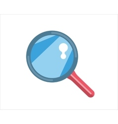 Flat loupe icon search zoom or look optic and vector
