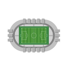 Football stadium aerial view on white background vector
