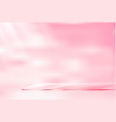 glass shelf pink background vector image vector image