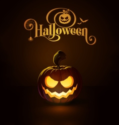 Jack o lantern dark scary smile vector