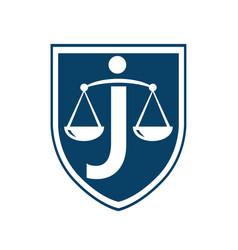 Letter j law logo concept vector