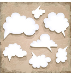 Paper Speech Bubble Cloud vector image
