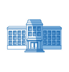 School building structure knowledge blue line vector