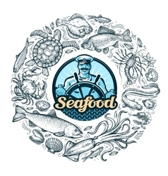seafood or food vector image vector image