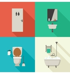 Simple of bathroom vector image vector image