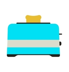 Toaster Icon Card vector image