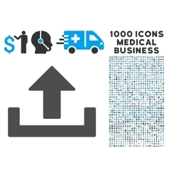 Upload Icon with 1000 Medical Business Pictograms vector image vector image