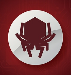 virus icon design vector image vector image