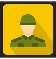 Soldier icon flat style vector