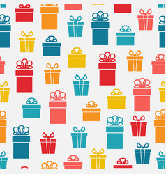 Festive bright gift box seamless pattern vector