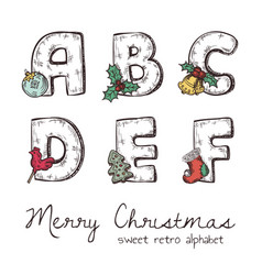 Xmas alphabet vector