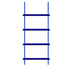 Wooden rope ladder in blue design vector