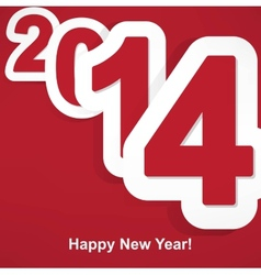 Stylized 2014 Happy New Year background vector image