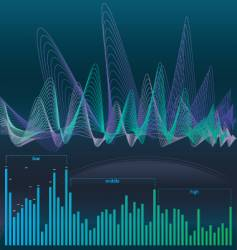 Sound background vector