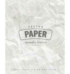 Rumpled paper seamless texture vector image
