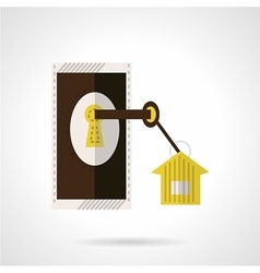 Housing agency icon flat style vector