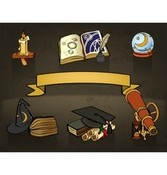 Astrology doodles vector image