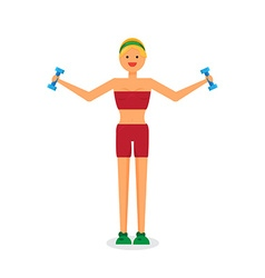 Happy fitness girl vector