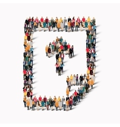 Group people shape document vector