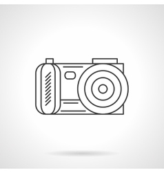 Photo camera icon flat line design icon vector