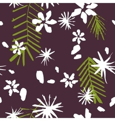 Abstract seamless pattern with flowers and vector