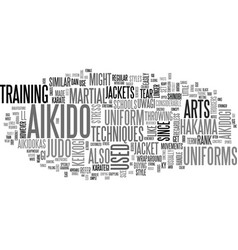 Aikido uniform text word cloud concept vector