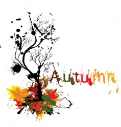 autumn grunge landscape vector image vector image