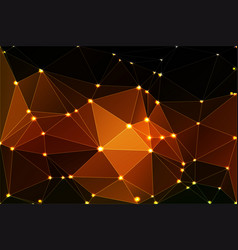 black orange yellow geometric background with vector image vector image