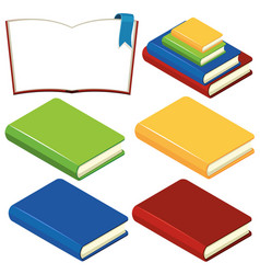 books with different color covers vector image
