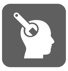 Brain tool flat squared icon vector