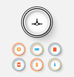 Computer icons set collection of memory card aux vector