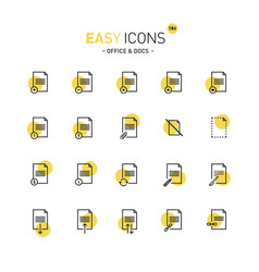 Easy icons 18d docs vector
