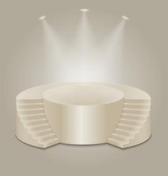 Empty illuminated podium vector