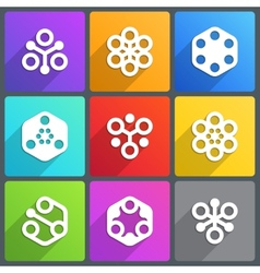 Flat abstract icon with shadow vector