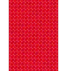 Geometric red background vector