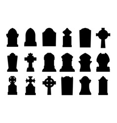 gravestone set vector image vector image