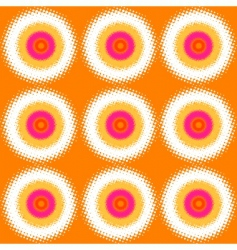halftone circles background vector image vector image