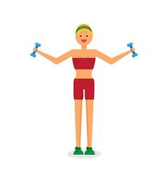 Happy fitness girl vector