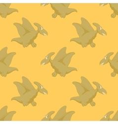 Happy flying dinosaur vector