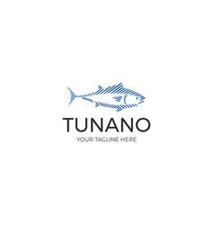 Line tuna logo template vector