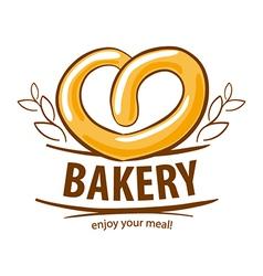 Logo fresh pretzel bakery vector