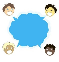 multicultural dialogue between people of all races vector image