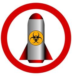 No biohazard rocket vector image
